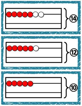 halves subtraction rekenrek cards