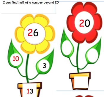 halving flowers half to 20  and beyond