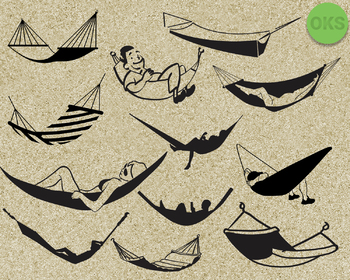 hammock SVG cut files, DXF, vector EPS cutting file instant download for cricut