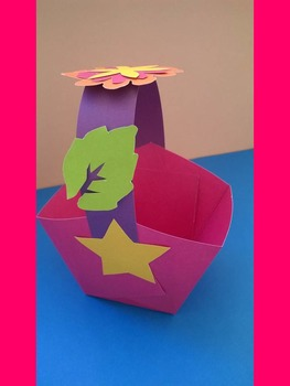 hand made paper basket
