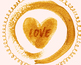 hand painted gold elements, brush strokes, borders, frames, circles, hearts,