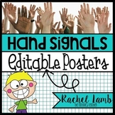 Editable Hand Signal Posters ROUND style