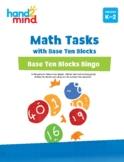 hand2mind Math Tasks with Base Ten Blocks, Base Ten Blocks Bingo, Grade K-2