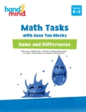 hand2mind Math Tasks with Base Ten Blocks, Sums and Differ