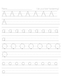 handwriting pages a-z