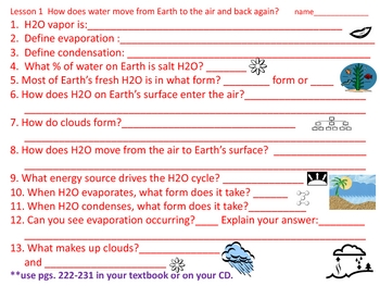harcourt california science textbook read and study questions