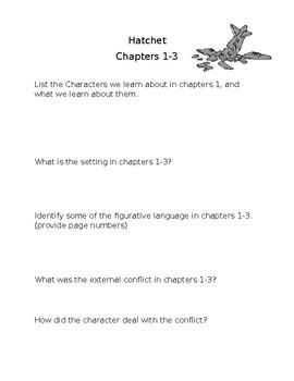 hatchet chapters 1-3