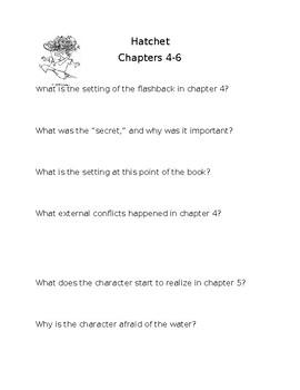 hatchet chapters 4-6