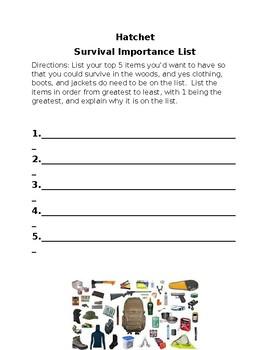 hatchet survival checklist