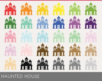 haunted house Digital Clipart, haunted house Graphics, haunted house PNG