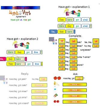 have got vs. has got - subject - verb agreement (British English version)