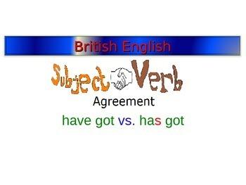 have got vs. has got - subject - verb agreement (British E