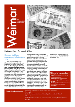 he Crises of Weimar Germany Part Four: Inflation