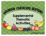 healthy choices 5-a-day math & literacy bundle