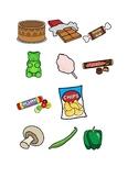 healthy food sort with symbolstix