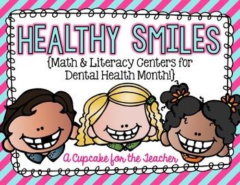 Dental Health Month {Math & Literacy Centers}