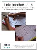 hello teacher notes: preK-grade 5