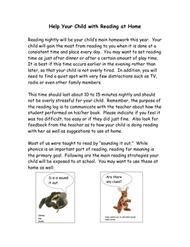help your child with reading at home