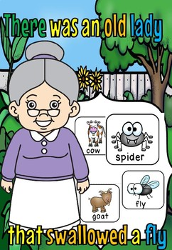 There was an old lady that swallowed a fly game