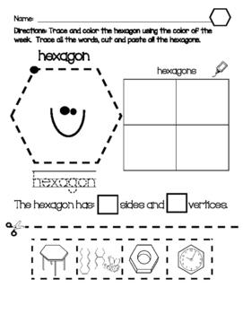 Geometry:  Hexagon Practice