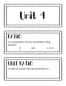 High School Geometry Word Wall Units 4 & 5