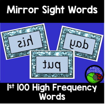 high frequency sight words MIRROR WORDS 1st 100 words