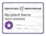 high honors award