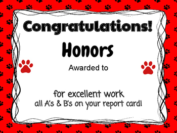 high honors honor roll certificate print and go