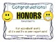 high honors honor roll certificate print and go EMOJI COLOR & Black and white