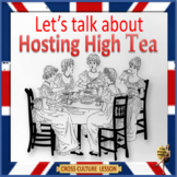 High tea -   conversation and activity for ESL, EFL, ELL adults and kids