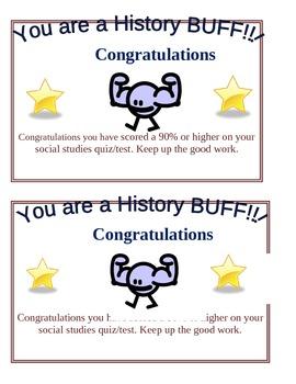history buff certificate