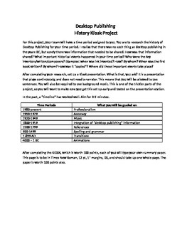 history kiosk project