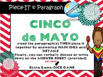 history of CINCO DE MAYO - reading comprehension