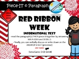 history of RED RIBBON WEEK  informational text activities