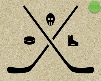 hockey stick, mask, skates, puck SVG cut files, DXF, vector EPS cutting file