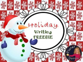 holiday Christmas writing literacy FREEBIE Missing Snowman