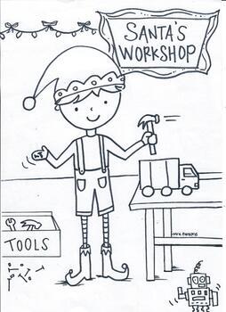 holiday coloring sheet