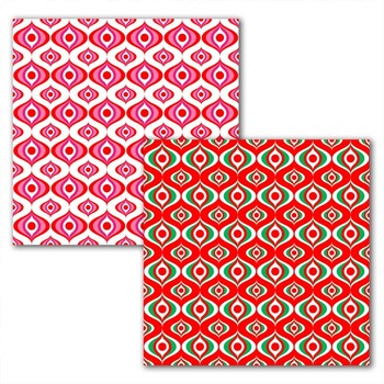 holiday digital paper with modern pattern in red/green/pink .jpg files TPT184