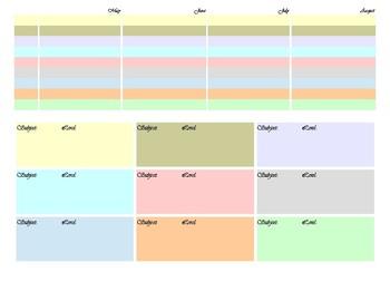 homeschool lesson organizer