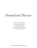Homeschool special education Planner