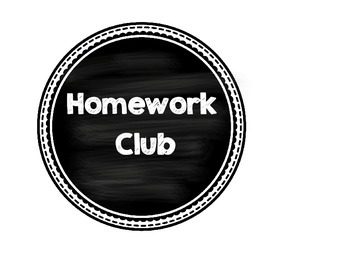 homework club sign
