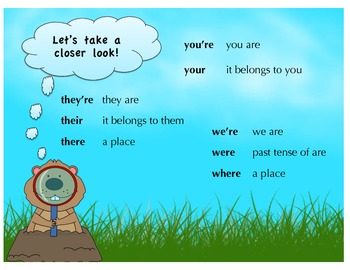 homophone poster and cards