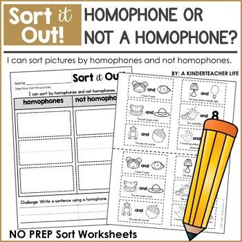 Homophones or Not Homophones Sort