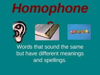 homophones lesson ppt