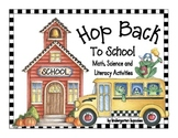 hop back to school: frog themed math, science and literacy activities