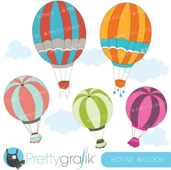 hot air balloon clipart commercial use, vector graphics - CL543