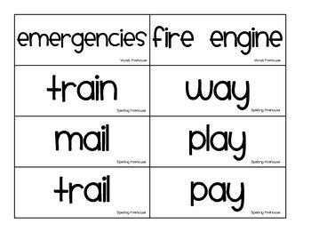 houghton Mifflin Theme 3 Pocket Chart, A Trip...Firehouse