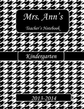 houndstooth Binder Cover