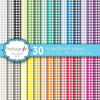 houndstooth digital paper, commercial use, scrapbook papers, background - PS576