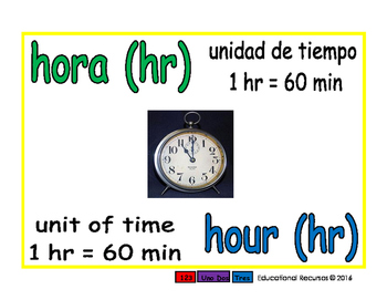 hour/hora meas 1-way blue/verde